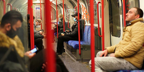 London underground train, covid