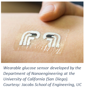 Wearable glucose sensor